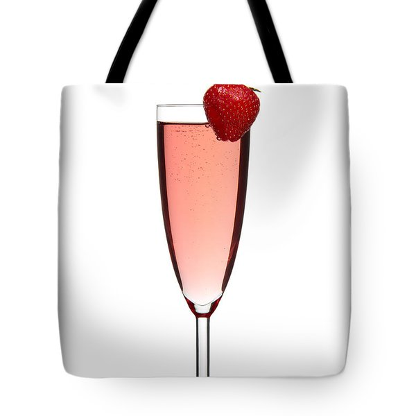 Strawberry Champagne Tote Bag by Gert Lavsen
