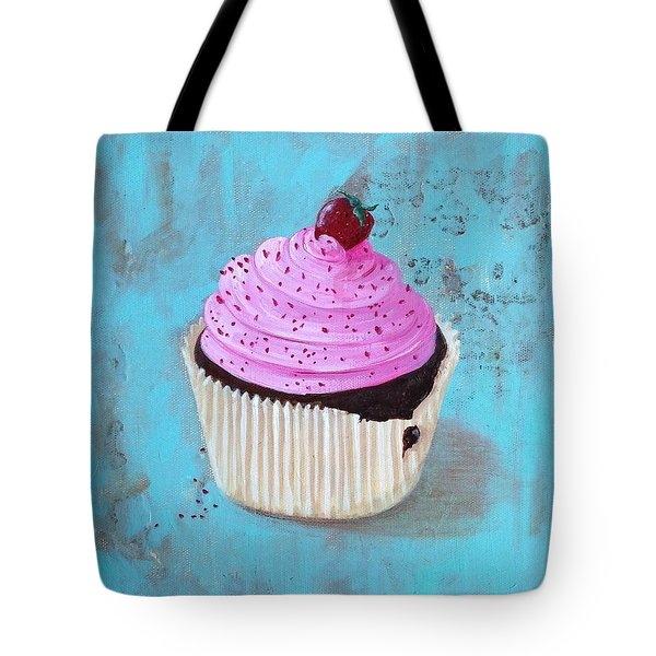 Strawberry Delight Tote Bag by T Fry-Green