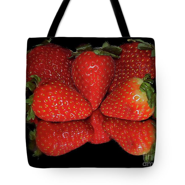 Tote Bag featuring the photograph Strawberry by Elvira Ladocki