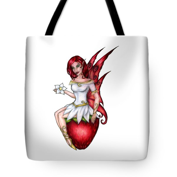 Strawberry Fairy Drawing Tote Bag