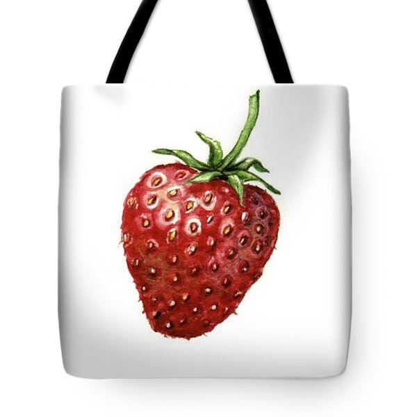 Tote Bag featuring the painting Strawberry by Heidi Kriel