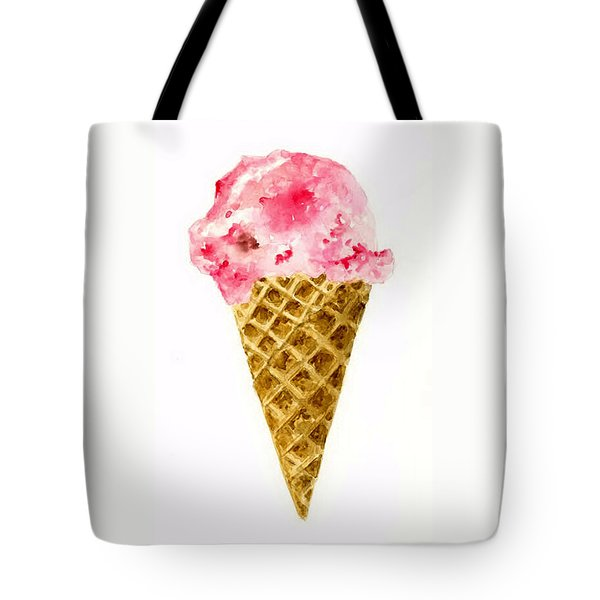 Strawberry Ice Cream Cone Tote Bag