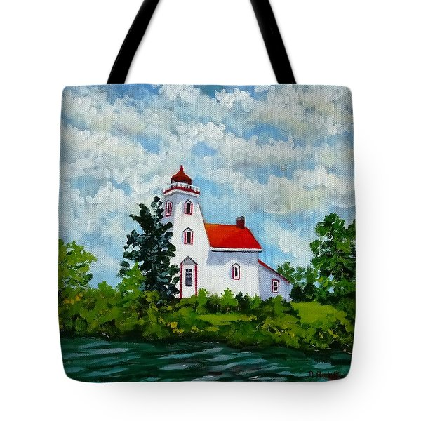 Strawberry Island Lighthouse, Manitoulin Island Tote Bag