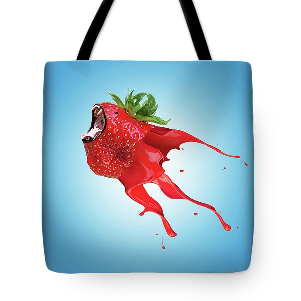 Tote Bag featuring the photograph Strawberry by Juli Scalzi