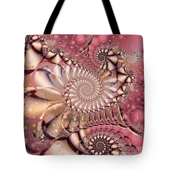 Tote Bag featuring the digital art Strawberry Lemonade by Michelle H