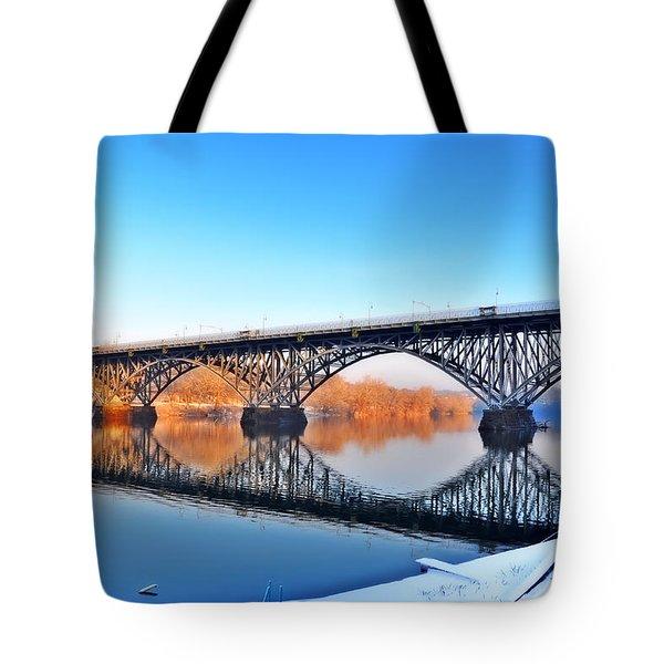 Strawberry Mansion Bridge  Tote Bag by Bill Cannon