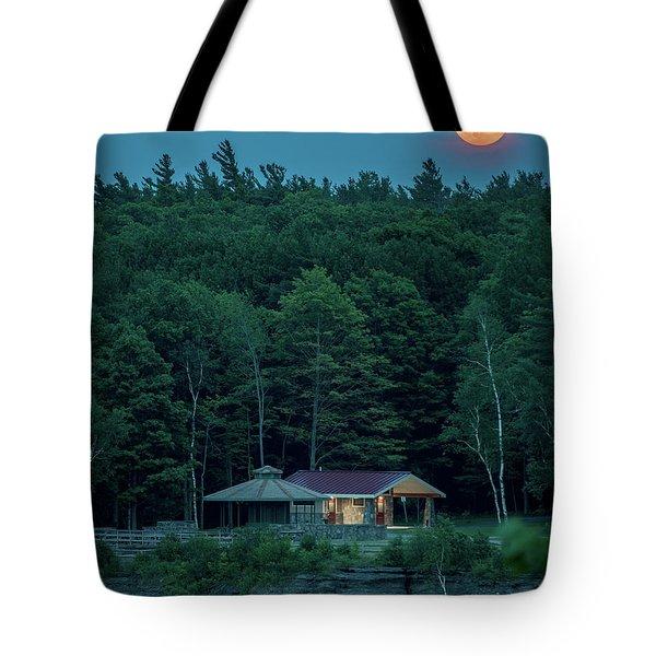 Strawberry Moon Tote Bag