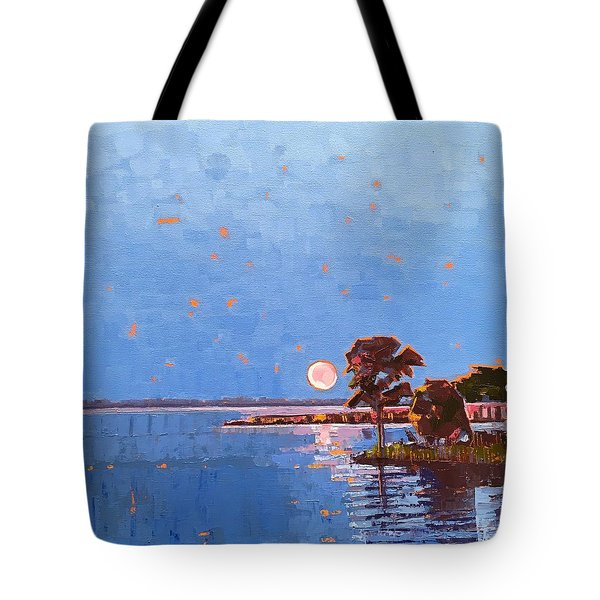 Strawberry Moon On Dymer Creek Tote Bag