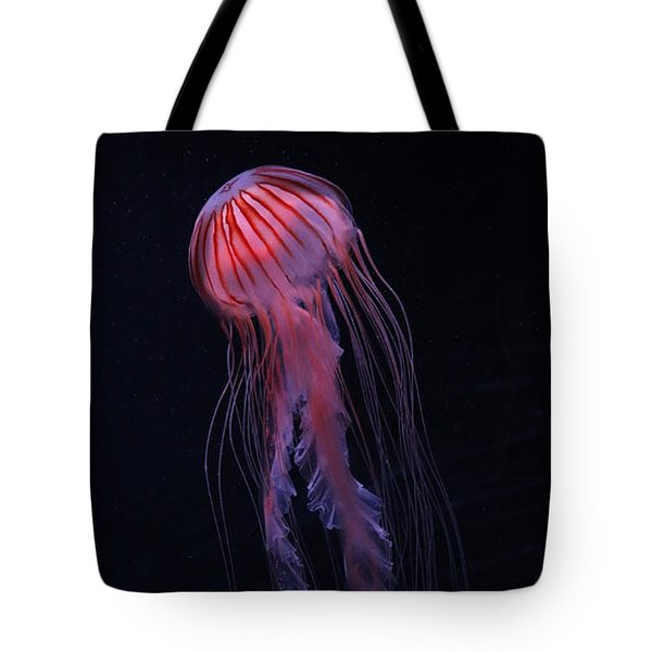 Tote Bag featuring the photograph Strawberry Pink Jellyfish - Extra Tall by Debi Dalio