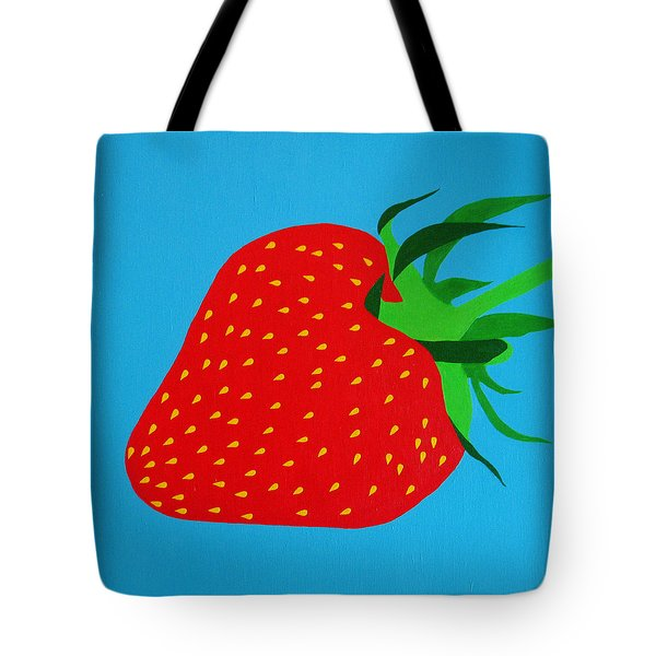 Strawberry Pop Tote Bag by Oliver Johnston