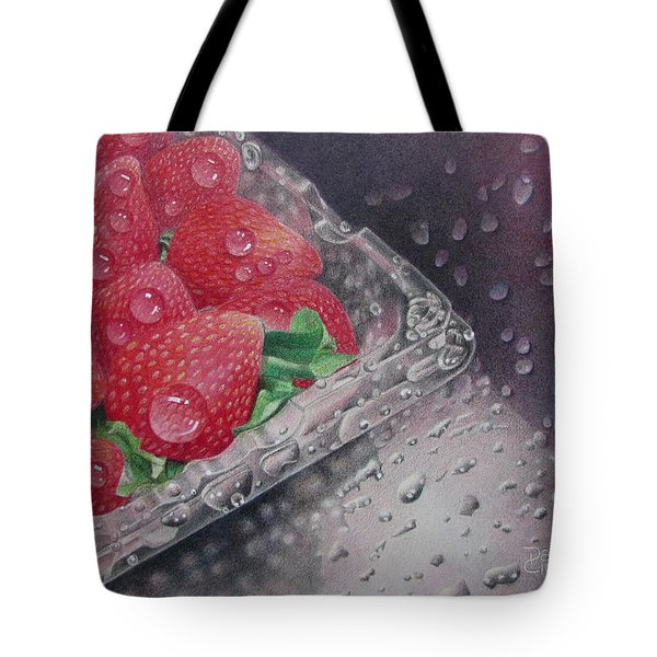 Strawberry Splash Tote Bag