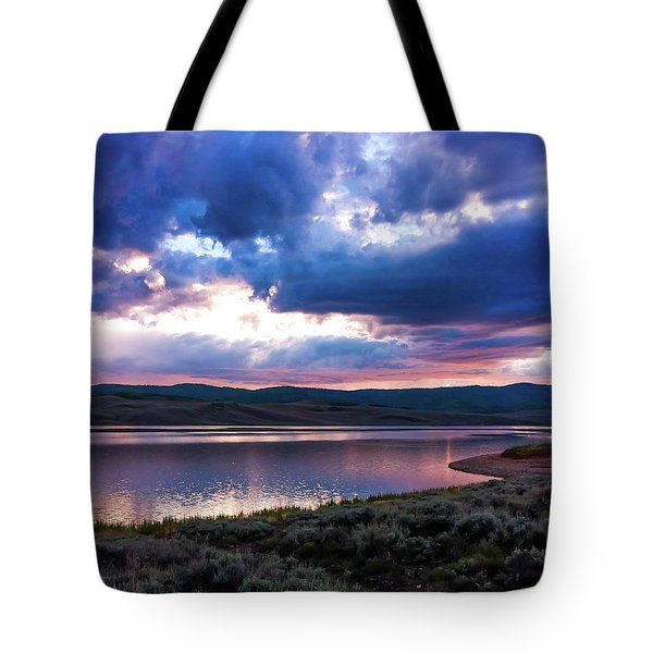 Tote Bag featuring the photograph Strawberry Sunset by Bryan Carter