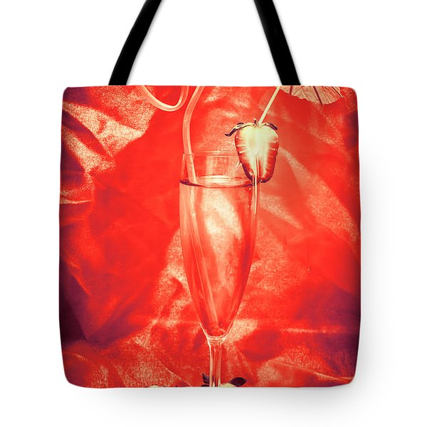 Straweberry Tropical Cocktail Drink Tote Bag
