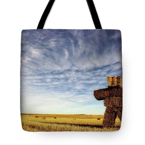 Strawman On The Prairies Tote Bag