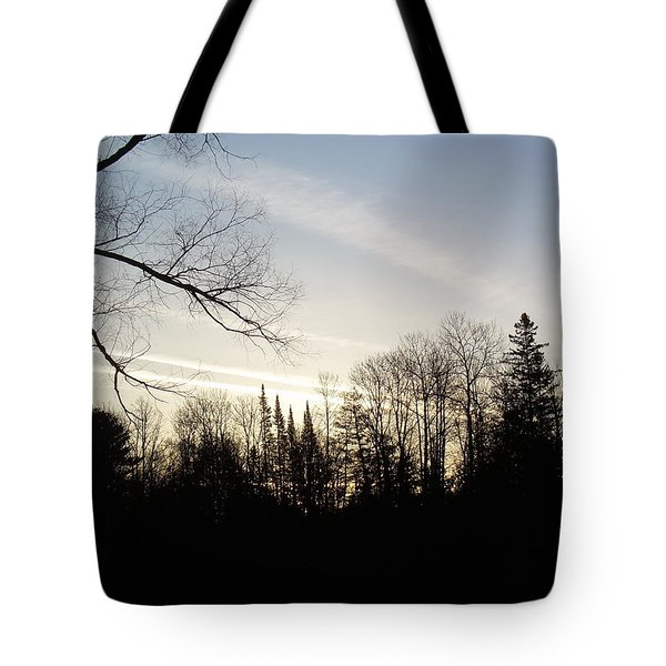 Tote Bag featuring the photograph Streaks Of Clouds In The Dawn Sky by Kent Lorentzen