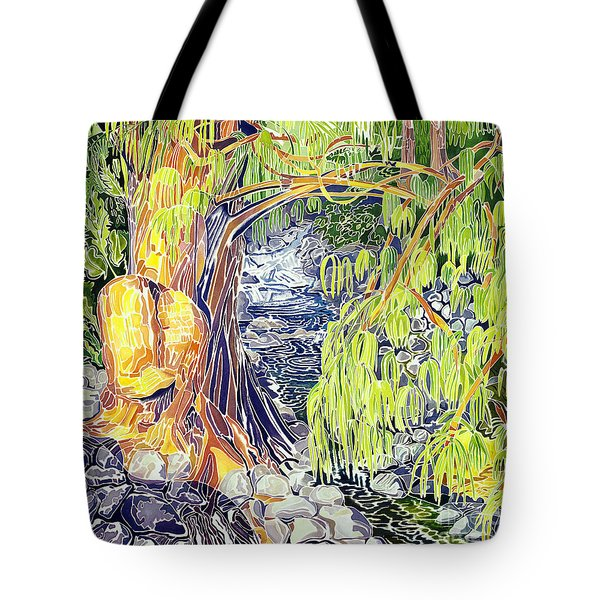 Stream At Laupahoehoe Tote Bag by Fay Biegun - Printscapes