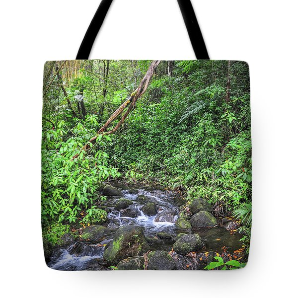 Stream In The Rainforest Tote Bag