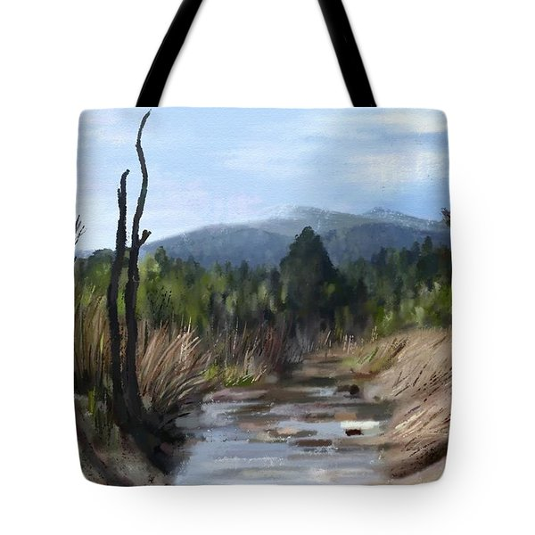 Tote Bag featuring the painting Stream by Ivana Westin