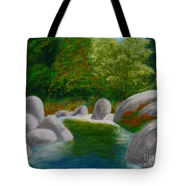 Stream One Tote Bag