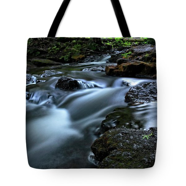 Stream Over Rocks Tote Bag by Charline Xia