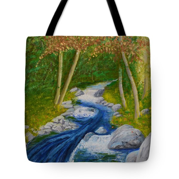 Stream Two Tote Bag