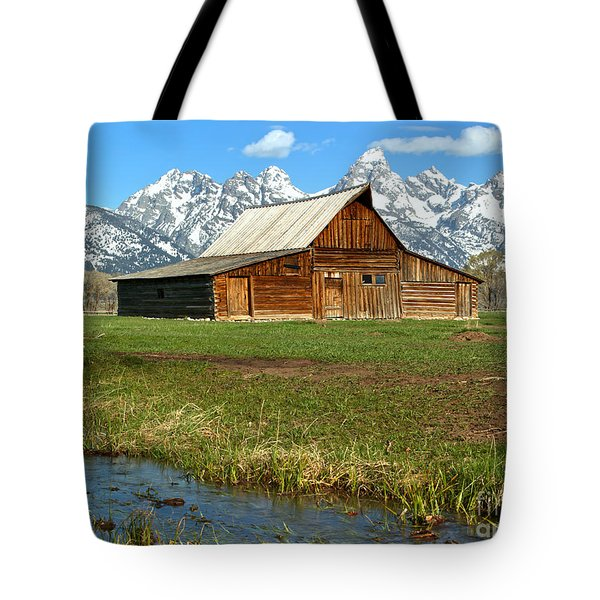 Streaming By The Moulton Barn Tote Bag by Adam Jewell