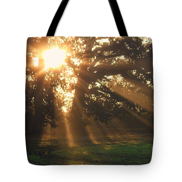 Streaming Sun Tote Bag