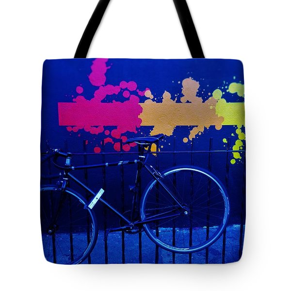 Street Art Bike In New York Tote Bag