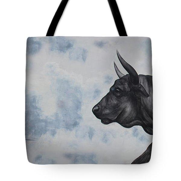 Street Art Bullfighter Tote Bag