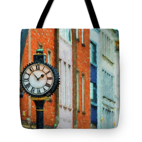 Street Clock In Cork Tote Bag