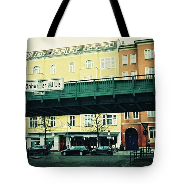 Street Cross With Elevated Railway Tote Bag