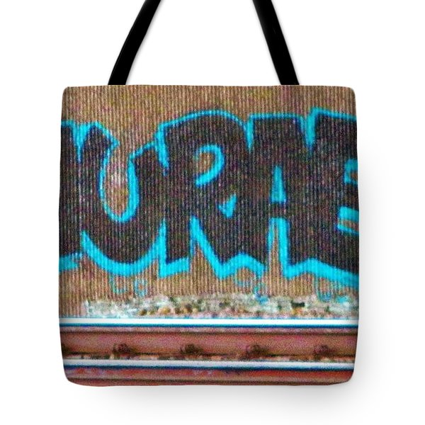 Street Graffiti-hooray Tote Bag by Martin Cline