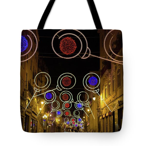 Tote Bag featuring the photograph Street In Coimbra by Patricia Schaefer
