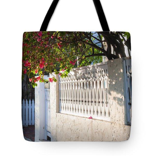 Street In Key West Tote Bag