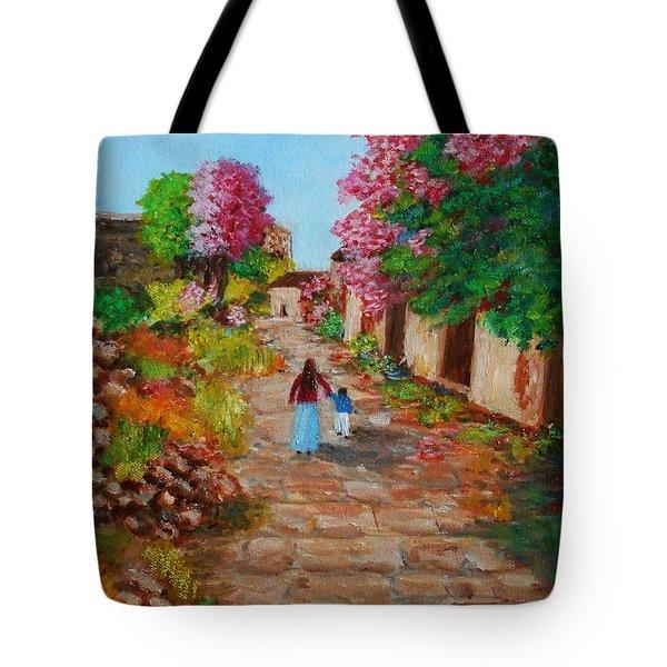 Street In Monemvasia Tote Bag
