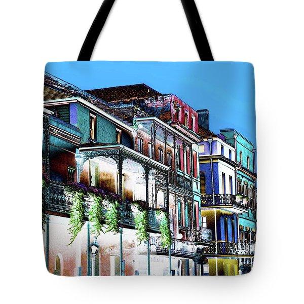 Street In New Orleans Tote Bag