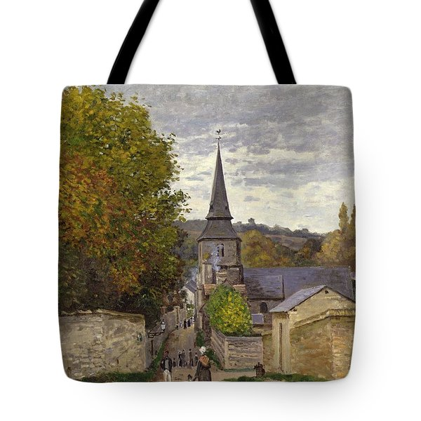 Street In Sainte Adresse Tote Bag by Claude Monet