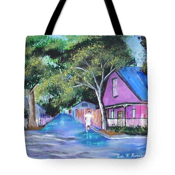 Street In St Augustine Tote Bag by Luis F Rodriguez