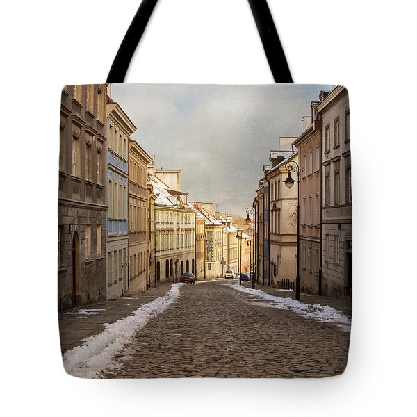 Tote Bag featuring the photograph Street In Warsaw, Poland by Juli Scalzi