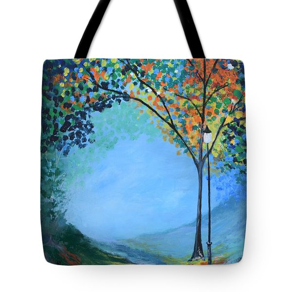 Street Lamp Tote Bag