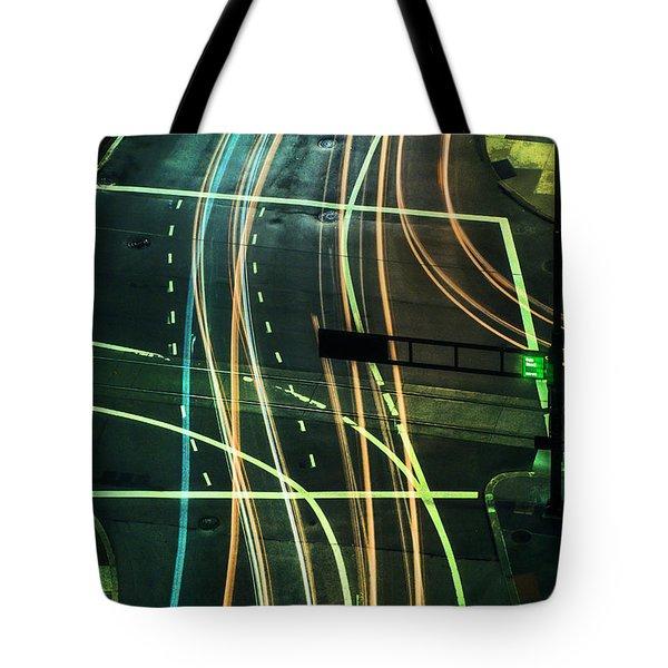 Street Lights Tote Bag by Scott Meyer