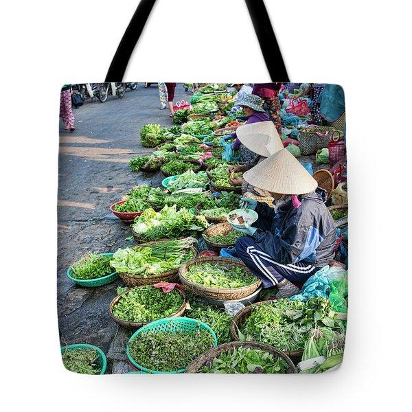 Street Market Hoi An Tote Bag