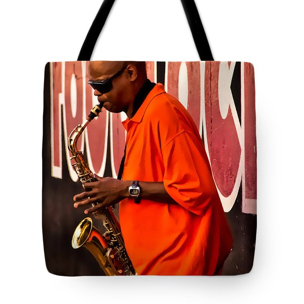Street Music Tote Bag by Christopher Holmes