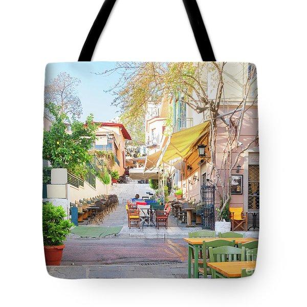 Street Of Athens, Greece Tote Bag