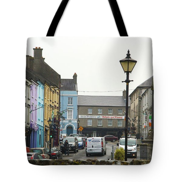 Tote Bag featuring the photograph Streets Of Cahir by Marie Leslie