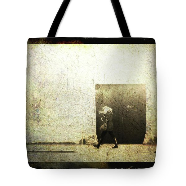 Street Photography - Closed Door Tote Bag by Siegfried Ferlin
