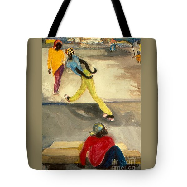 Street Scene Tote Bag by Daun Soden-Greene