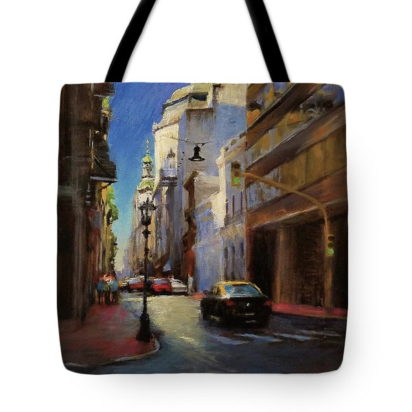 Street Scene In Buenos Aires Tote Bag by Peter Salwen