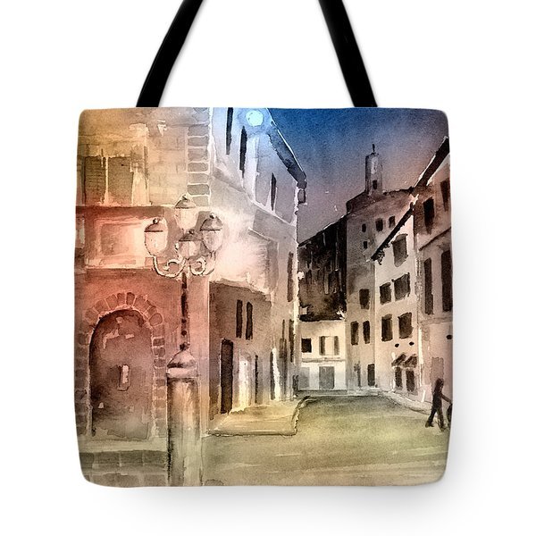 Street Scene In Italy Tote Bag by Arline Wagner