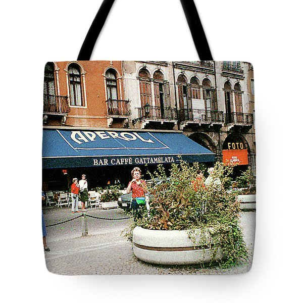 Tote Bag featuring the photograph Street Scene In Padua, Italy by Merton Allen